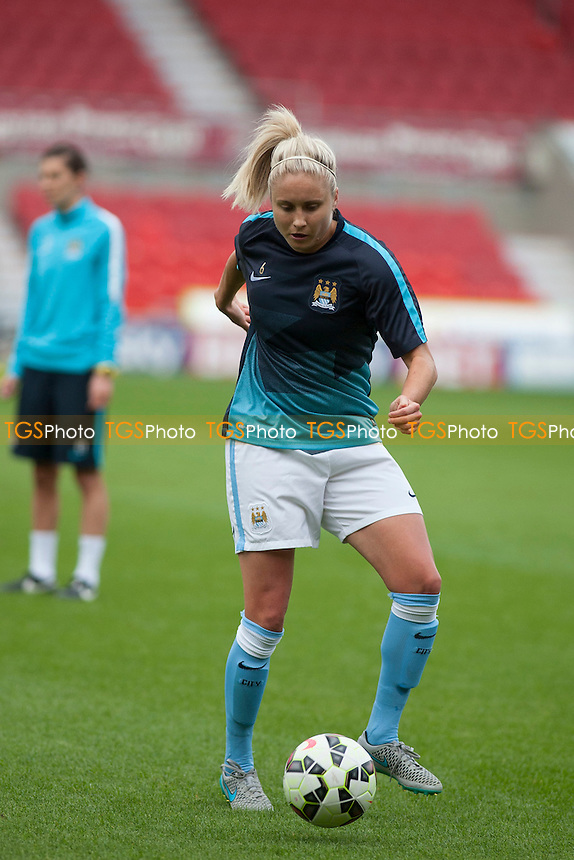 Steph Houghton (Man City Women)<br /> Doncaster Rovers Belles vs Manchester City Women, FA Womens Super League Continental Tyres Cup Football at the Keepmoat Stadium, Stadium Way, Doncaster, West Riding of Yorkshire on 23/07/2015 - MANDATORY CREDIT: Mark Hodsman/TGSPHOTO