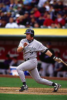 OAKLAND, CA - Matt Williams of the Arizona Diamondbacks bats during a game against the Oakland Athletics at the Oakland Coliseum in Oakland, California in 1998. Photo by Brad Mangin