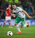 Conor Washington of Northern Ireland during the international friendly match at the Cardiff City Stadium. Photo credit should read: Philip Oldham/Sportimage
