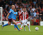 Danny Lafferty of Sheffield Utd during the English League One match at Glanford Park Stadium, Scunthorpe. Picture date: September 24th, 2016. Pic Simon Bellis/Sportimage