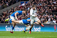 Elliot Daly of England during the Guinness Six Nations match between England and Italy at Twickenham Stadium on March 9th, 2019 in London, United Kingdom. Photo by Liam McAvoy.