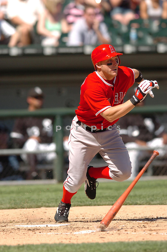 REGGIE WILLITS, of the Los Angeles Angels, in action during the Angels game against the Chicago White Sox in Chicago, Illinois  on April 29, 2007....Angels win 5-2...DAVID DUROCHIK / SPORTPICS..