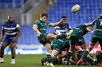 Ben Meehan of London Irish box-kicks the ball. Aviva Premiership match, between London Irish and Bath Rugby on November 19, 2017 at the Madejski Stadium in Reading, England. Photo by: Patrick Khachfe / Onside Images
