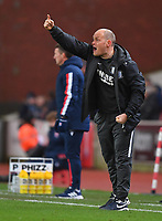Preston North End's Ben Davies Shouts to his team during the game<br /> <br /> Photographer Dave Howarth/CameraSport<br /> <br /> The EFL Sky Bet Championship - Stoke City v Preston North End - Wednesday 12th February 2020 - bet365 Stadium - Stoke-on-Trent <br /> <br /> World Copyright © 2020 CameraSport. All rights reserved. 43 Linden Ave. Countesthorpe. Leicester. England. LE8 5PG - Tel: +44 (0) 116 277 4147 - admin@camerasport.com - www.camerasport.com