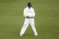 PICTURE BY VAUGHN RIDLEY/SWPIX.COM - Cricket - County Championship Div 2 - Yorkshire v Essex, Day 3 - Headingley, Leeds, England - 21/04/12 - Yorkshire's Phil Jaques reads a note.