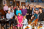 Mary O'Shea seated front centre at her retirement party from the Cahersiveen Credit Union on Saturday night pictured here with staff and friends in Camos Restaurant, Cahersiveen, Mary has 20 years of service given to the branch.