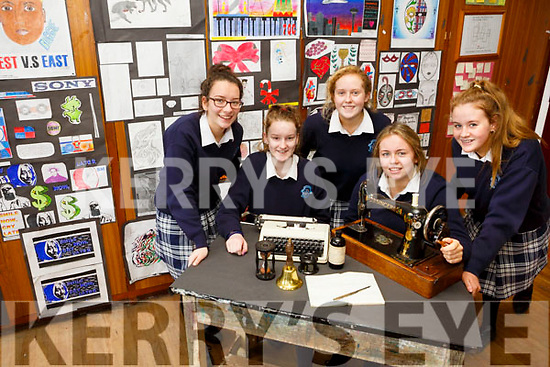 Castleisland Presentation Secondary School. Launch of 90th memorabilia for celebrations. Pictured l-r Aine Barry, Laura O'Shea, Rosie Scanlon, Mary Healy, Sarah O'Mahony