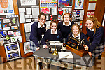 Castleisland Presentation Secondary School. Launch of 90th memorabilia for celebrations. Pictured l-r Aine Barry, Laura O'Shea, Rosie Scanlon, Mary Healy, Sarah O'Mahony