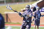 Bucky Smith (40) of the High Point Panthers passes the ball during first half action against the UMBC Retrievers at Vert Track, Soccer & Lacrosse Stadium on March 15, 2014 in High Point, North Carolina.  The Panthers defeated the Retrievers 17-15.   (Brian Westerholt/Sports On Film)