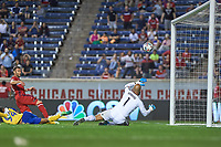 Bridgeview, IL - Wednesday, May 17, 2017: The Chicago fire played the Colorado Rapids in a Major League Soccer (MLS) game at Toyota Park. The Chicago Fire defeated the Colorado Rapids by the score of 3-0.