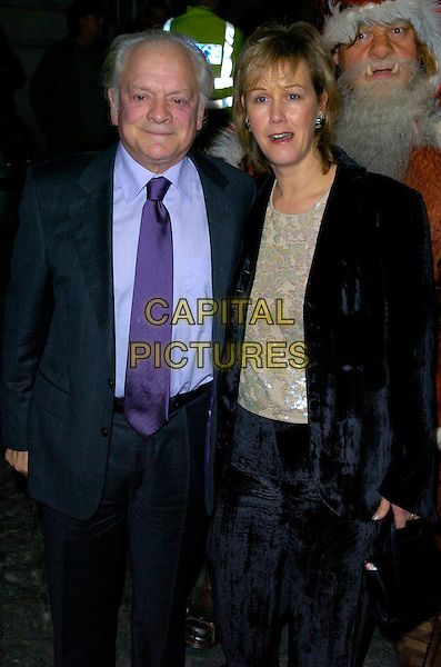 "DAVID JASON &  GILL HINCHCLIFFE.The ""Hogfather"" world TV premiere, Curzon Mayfair cinema, London, UK..November 27th, 2006.half length black suit jacket.CAP/CAN.©Can Nguyen/Capital Pictures"