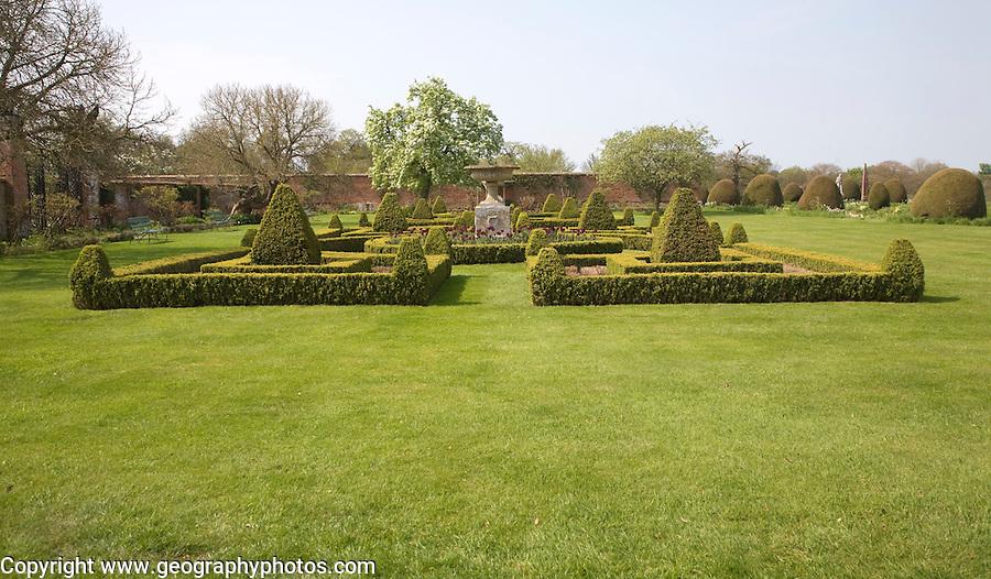 Garden at Helmingham Hall, Suffolk, England