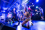 Air guitarists play an imaginary riff during the Air Guitar 2016 Japan Finals at Zirco Tokyo in Shinjuku on August 7, 2016, Tokyo, Japan. The contest is held by the Air Guitar Japan Association. The Japanese winner TAM will participate in the Air Guitar World Championships 2016 in Finland which takes place August 24 to 26. (Photo by Rodrigo Reyes Marin/AFLO)