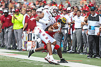 College Park, MD - September 15, 2018: Temple Owls wide receiver Ventell Bryant (1) catches a pass  during the game between Temple and Maryland at  Capital One Field at Maryland Stadium in College Park, MD.  (Photo by Elliott Brown/Media Images International)