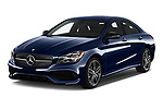 2017 Mercedes Benz CLA-Class CLA250 4 Door Sedan Angular Front stock photos of front three quarter view