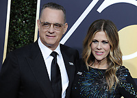 www.acepixs.com<br /> <br /> January 7 2018, LA<br /> <br /> Tom Hanks and Rita Wilson arriving at the 75th Annual Golden Globe Awards at The Beverly Hilton Hotel on January 7, 2018 in Beverly Hills, California.<br /> <br /> By Line: Peter West/ACE Pictures<br /> <br /> <br /> ACE Pictures Inc<br /> Tel: 6467670430<br /> Email: info@acepixs.com<br /> www.acepixs.com