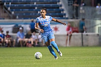 Bridgeview, IL - Saturday July 23, 2016:  Chicago Red Stars defender Samantha Johnson (16) during a regular season National Women's Soccer League (NWSL) match between the Chicago Red Stars and the Houston Dash at Toyota Park.