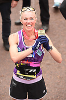 Nell McAndrew<br /> at the finishof the London Marathon 2019, Greenwich, London<br /> <br /> ©Ash Knotek  D3496  28/04/2019