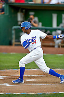 Pioneer League All-Star Ibandel Isabel (54) of the Ogden Raptors at bat against the Northwest League All-Stars at the 2nd Annual Northwest League-Pioneer League All-Star Game at Lindquist Field on August 2, 2016 in Ogden, Utah. The Northwest League defeated the Pioneer League 11-5. (Stephen Smith/Four Seam Images)