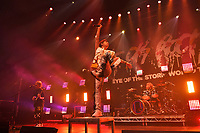 LONDON, ENGLAND - MAY 10: Ryota Kohama, Takahiro Moriuchi and Tomoya Kanki of 'ONE OK ROCK performing at The Roundhouse on May 10, 2019 in London, England.<br /> CAP/MAR<br /> ©MAR/Capital Pictures