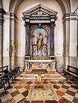 St. Anthony, Altar, Parish S Martino Vescovo, the colorful village of Burano, Italy.