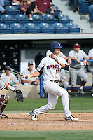 Matt Gelalich (13) of the Pepperdine Waves bats against the Texas A&M Aggies at Eddy D. Field Stadium on February 26, 2016 in Malibu, California. Pepperdine defeated Texas A&M, 7-5. (Larry Goren/Four Seam Images)