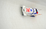 15 December 2007: Canada 2 pilot Lyndon Rush with brakeman Dan Humphries enter turn 17 during their second run at the FIBT World Cup Bobsled Competition at the Olympic Sports Complex on Mount Van Hoevenberg, at Lake Placid, New York, USA. ..Mandatory Photo Credit: Ed Wolfstein Photo