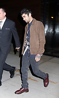 www.acepixs.com<br /> <br /> November 14 2017, New York City<br /> <br /> Singer Zayn Malik leaves his girlfriend Gigi Hadid's apartment on November 14 2017 in New York City<br /> <br /> By Line: Philip Vaughan/ACE Pictures<br /> <br /> <br /> ACE Pictures Inc<br /> Tel: 6467670430<br /> Email: info@acepixs.com<br /> www.acepixs.com
