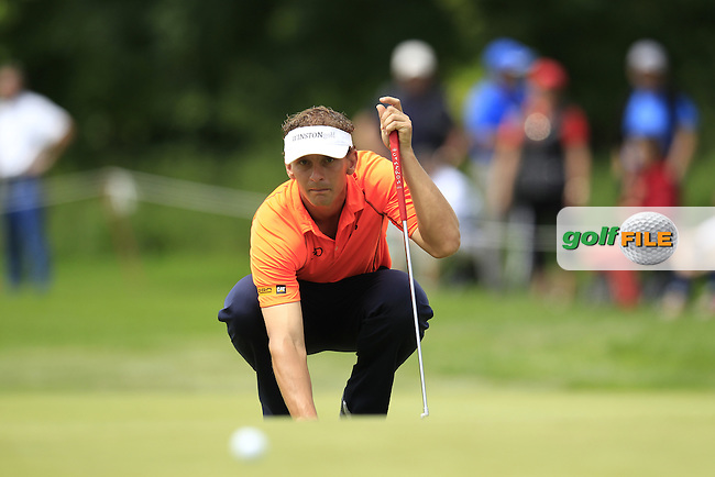 Joost Luiten (NED) lines up his putt on the 7th green during Sunday's Final Round of the 2013 BMW International Open held on the Eichenried Golf Club, Munich, Germany. 23rd June 2013<br /> (Picture: Eoin Clarke www.golffile.ie)