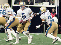 Ralph Dieter Brock Winnipeg Blue Bombers quarterback 1982. Copyright photograph Scott Grant