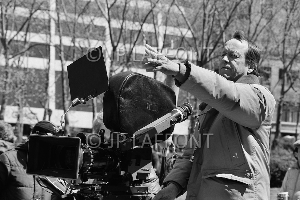 December 1981, USA. American director George Roy Hill on the set of his movie The World According to Garp, based on the novel by John Irving.