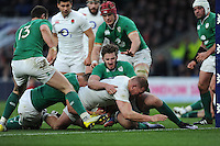 Dylan Hartley, FEBRUARY 27, 2016 - Rugby : Dylan Hartley of England comes up just short of the lineduring the RBS 6 Nations match between England and Ireland at Twickenham Stadium, London, United Kingdom. (Photo by Rob Munro)