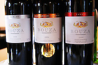 Bouza Merlot Barrel aged 2004, Tempranillo and Tannat 2004, Tannat barrel aged 2004 Bodega Bouza Winery, Canelones, Montevideo, Uruguay, South America