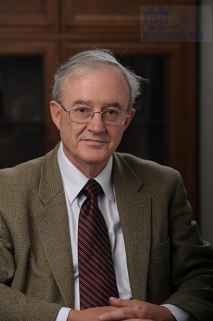 Law Professor John Finnis..Photo by Matt Cashore/University of Notre Dame