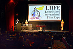 Bellmore, New York, USA. July 21, 2016. At podium, actor KEVIN BROWN (Dot Com in 30 Rock) once again is host at the19th Annual Long Island International Film Expo Awards Ceremony, LIIFE 2016, held at the historic Bellmore Movies. LIIFE was called one of the 25 Coolest Film Festivals in the World by MovieMaker Magazine.