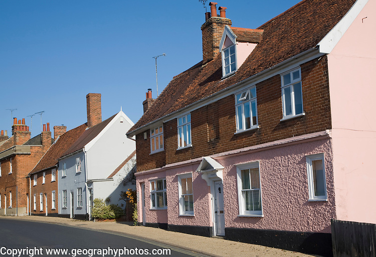 Cromwell House and other historic buildings, Woodbridge, Suffolk, England