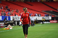 Atlanta, GA - Sunday Sept. 18, 2016: Carli Lloyd prior to a international friendly match between United States (USA) and Netherlands (NED) at Georgia Dome.