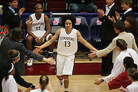 19 March 2007: Cissy Pierce during Stanford's 68-61 second round loss to Florida State in the 2007 NCAA Division I Women's Basketball Championships at Maples Pavilion in Stanford, CA.