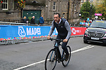 Chris Boardman recces the course for TV before the Men Elite Individual Time Trial of the UCI World Championships 2019 running 54km from Northallerton to Harrogate, England. 25th September 2019.<br /> Picture: Seamus Yore | Cyclefile<br /> <br /> All photos usage must carry mandatory copyright credit (© Cyclefile | Seamus Yore)