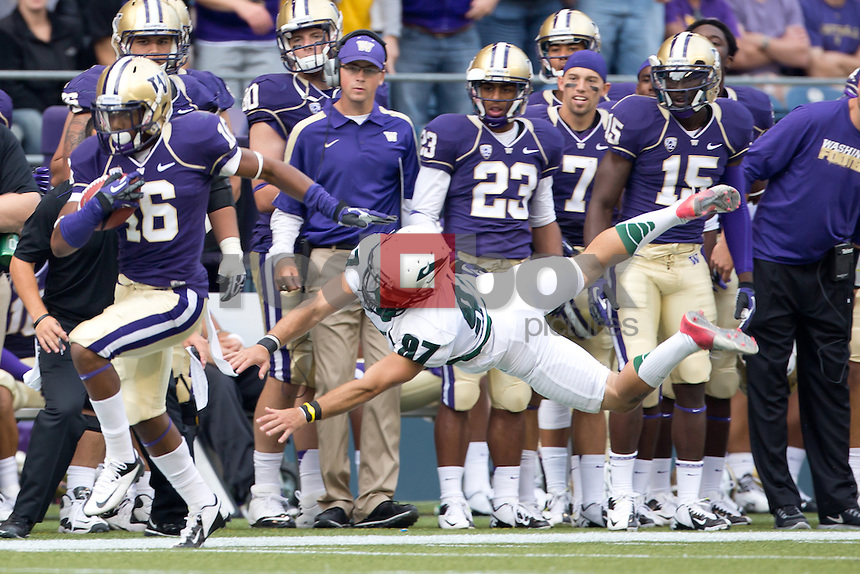 The University of Washington football team defeats Portland State 52-13 at Century Link Stadium in Seattle on Saturday September 15, 2012. (Photography By Scott Eklund/Red Box Pictures)