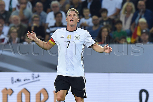 31.08.2016 Moenchengladbach, Germany. International football freindly. Germany versus Finland. Bastian Schweinsteiger  Germany