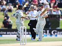 23rd November 2019; Mt Maunganui, New Zealand;  BJ Watling and Henry Nicholls during play on Day 3, 1st Test match between New Zealand versus England. International Cricket at Bay Oval, Mt Maunganui, New Zealand.  - Editorial Use