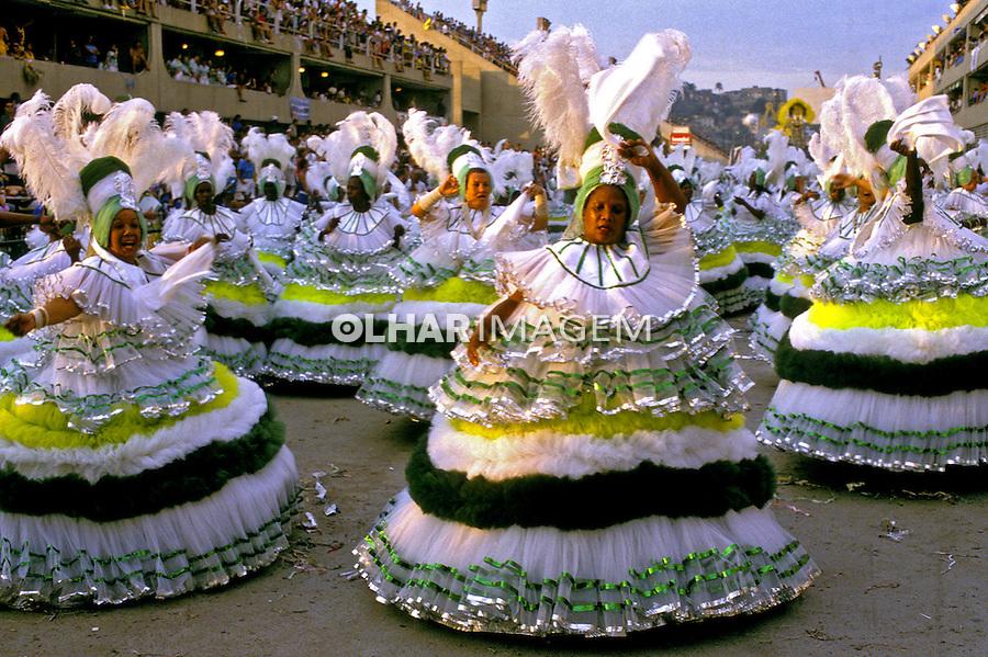 Desfile de carnaval da Imperatriz, Rio de Janeiro. 1989. Foto de Juca Martins.