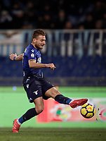 Football Soccer: Tim Cup semi-final second Leg, SS Lazio vs AC Milan, Stadio Olimpico, Rome, Italy, February 28, 2018.<br /> Lazio's Ciro Immobile in action during the Tim Cup semi-final football match between SS Lazio vs AC Milan, at Rome's Olympic stadium, February 28, 2018.<br /> UPDATE IMAGES PRESS/Isabella Bonotto