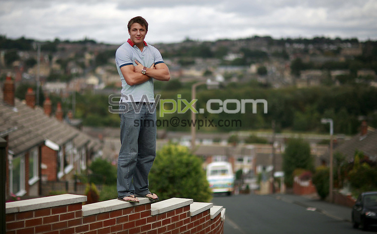 PICTURE BY Ben Duffy/SWPIX.COM - Rugby League Feature, Sam Burgess - 31/08/07...Copyright - Simon Wilkinson - 07811267706..Bradford Bulls' star, Sam Burgess pictured at his home in Liversedge..Sam Burgess, who now lives in Sydney, Australia and plays for South Sydney Rabbitohs with his 3 brothers, is pictured here in August 2007 at home in West Yorkshire.