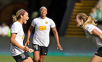 Portland, OR - Sunday Oct. 02, 2016: Lynn Williams celebrates scoring during a National Women's Soccer League (NWSL) semi-finals match between the Portland Thorns FC and the Western New York Flash at Providence Park.