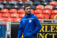 16th November 2019; Tannadice Park, Dundee, Scotland; Scottish Championship Football, Dundee United versus Queen of the South; Michael Paton of Queen of the South inspects the pitch before the match - Editorial Use