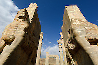 The imposing gateway to the ancient city of Persepolis in Iran, built in the 5th century BC by the Achaemenid emperor Darius I, leaves the visitor in no doubt as to the grandeur of the Persian empire at that time.