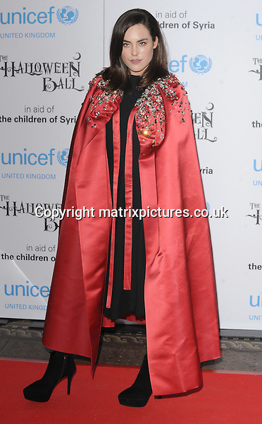NON EXCLUSIVE PICTURE: PAUL TREADWAY / MATRIXPICTURES.CO.UK<br /> PLEASE CREDIT ALL USES<br /> <br /> WORLD RIGHTS<br /> <br /> English model Tallulah Harlech attending the UNICEF Halloween Ball at London's One Mayfair.<br /> <br /> OCTOBER 31st 2013<br /> <br /> REF: PTY 137081
