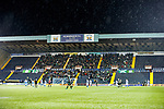 Hibs fans in the Chadwick Stand, Rugby Park
